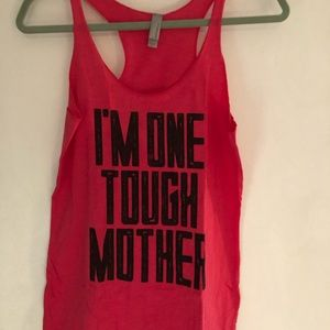 Tops - I'm One Tough Mother! Workout Tank Size L